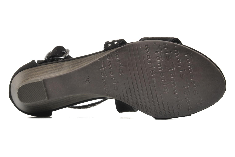 Sandales et nu-pieds Tamaris Hallborsil Noir vue haut