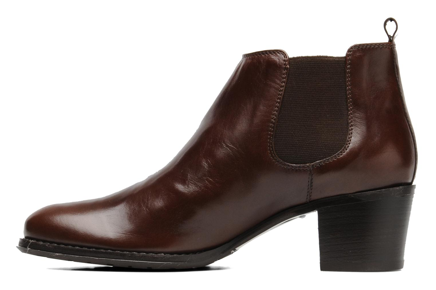 Ankle boots Georgia Rose Tabou Brown front view