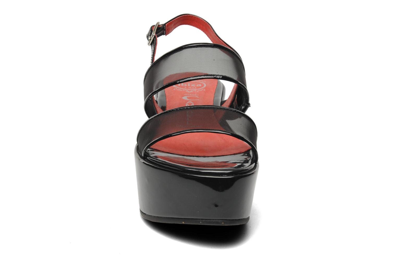 Sandalen Jeffrey Campbell JC-018-39 schwarz schuhe getragen