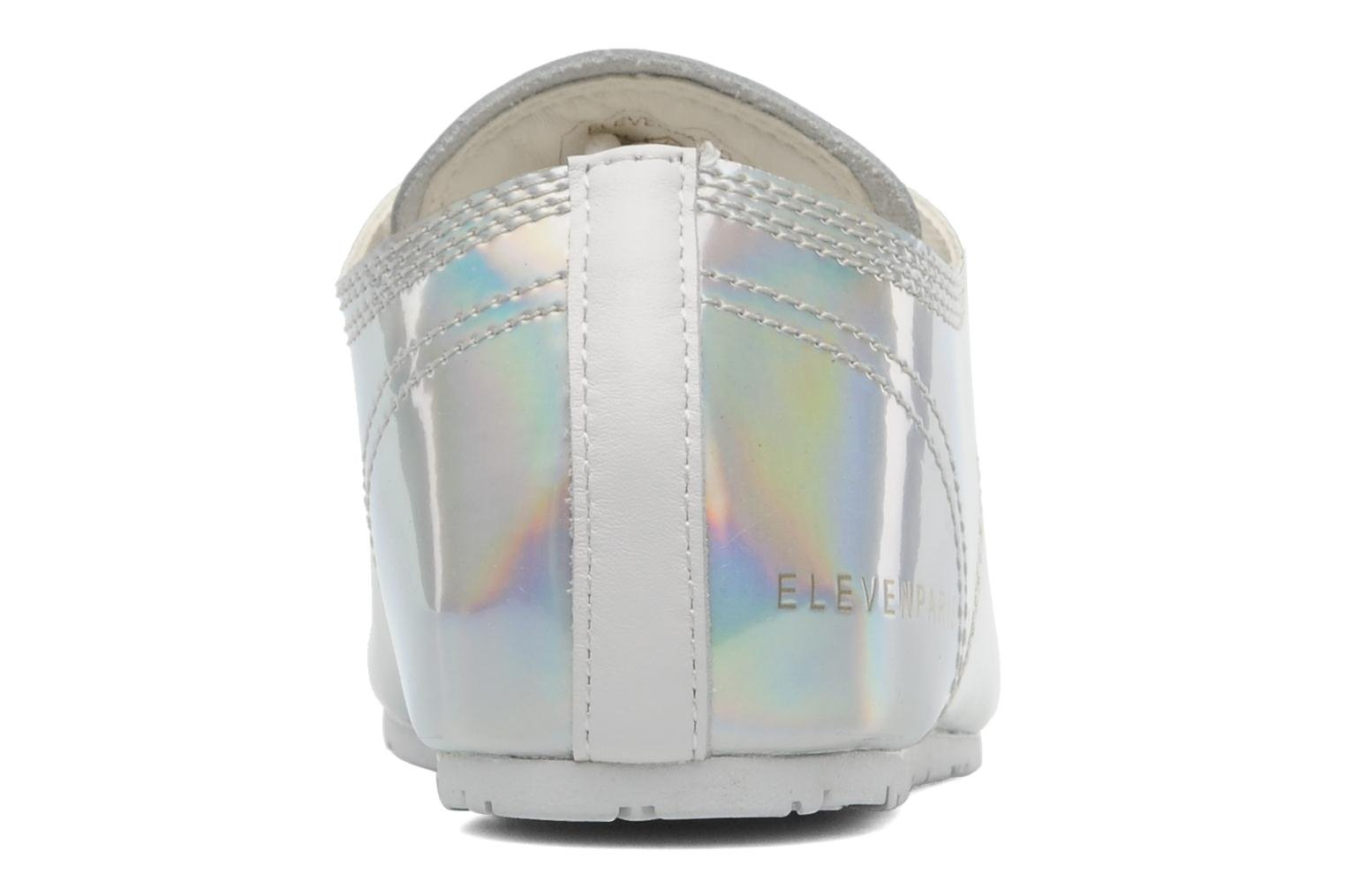 Trainers Eleven paris Basic Patent Holo F Silver view from the right