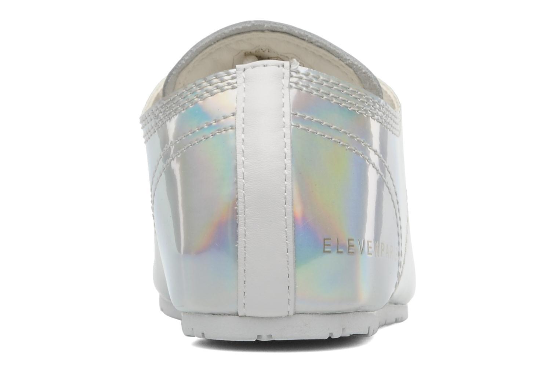 Baskets Eleven paris Basic Patent Holo F Argent vue droite