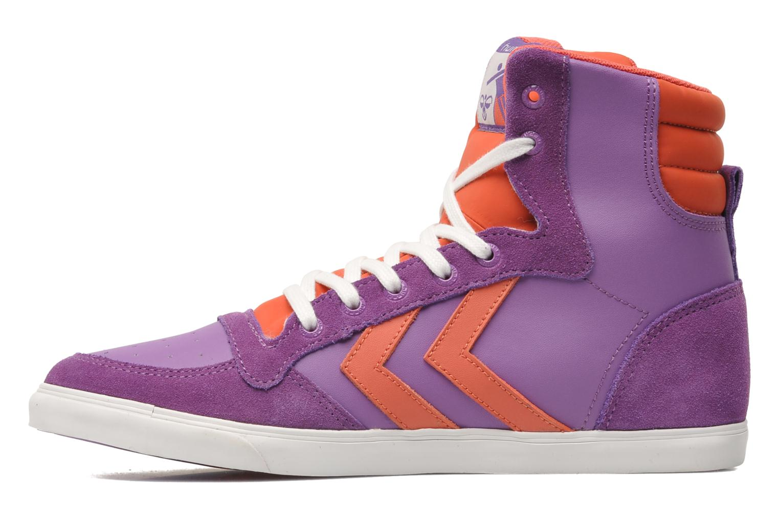 Baskets Hummel HUMMEL SLIMSTADIL JR LEATH HG Violet vue face