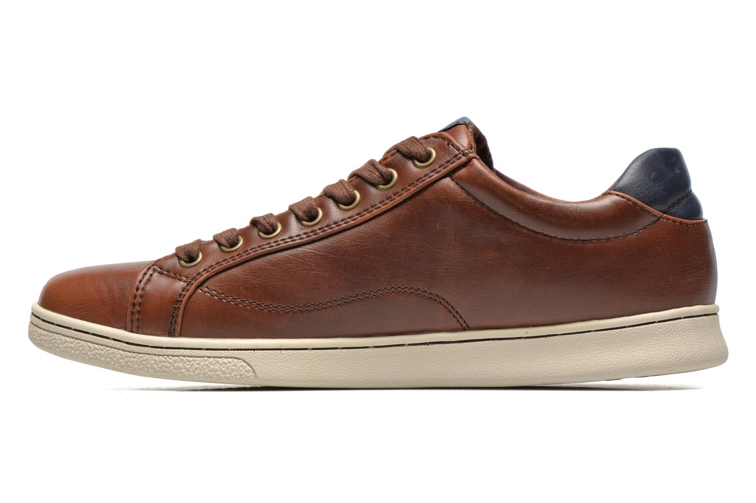 Sneakers Levi's Tulare Low Lace Bruin voorkant