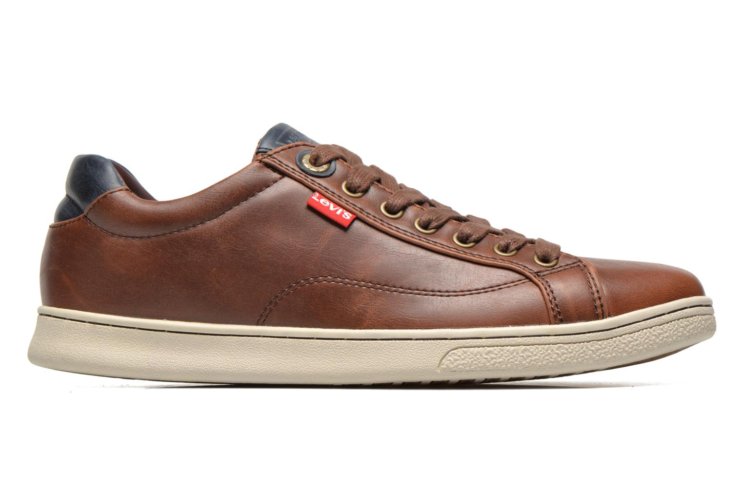 Sneakers Levi's Tulare Low Lace Bruin achterkant