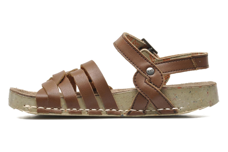 Sandales et nu-pieds Art I PLY 426 Marron vue face