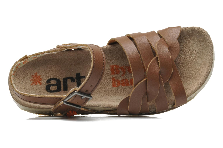 Sandales et nu-pieds Art I PLY 426 Marron vue gauche