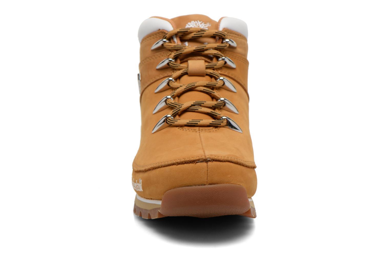 Chaussures à lacets Timberland Euro Sprint Hiker Beige vue portées chaussures