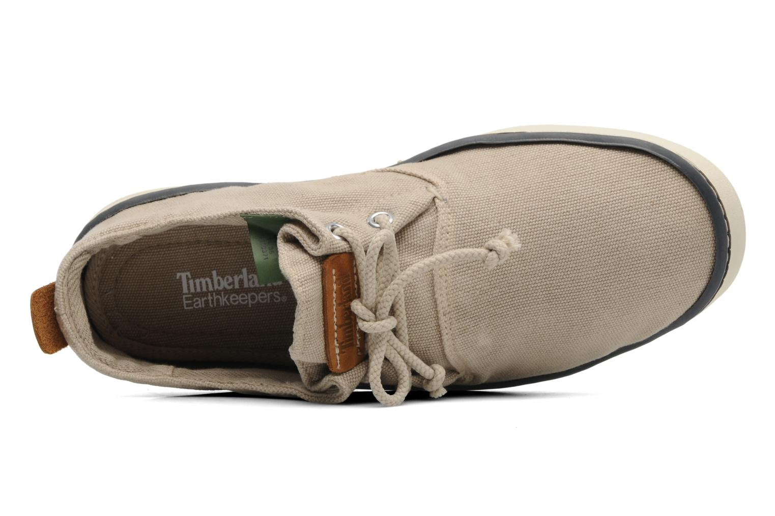 Deportivas Timberland Earthkeepers Hookset Handcrafted Canvas Ox Beige vista lateral izquierda