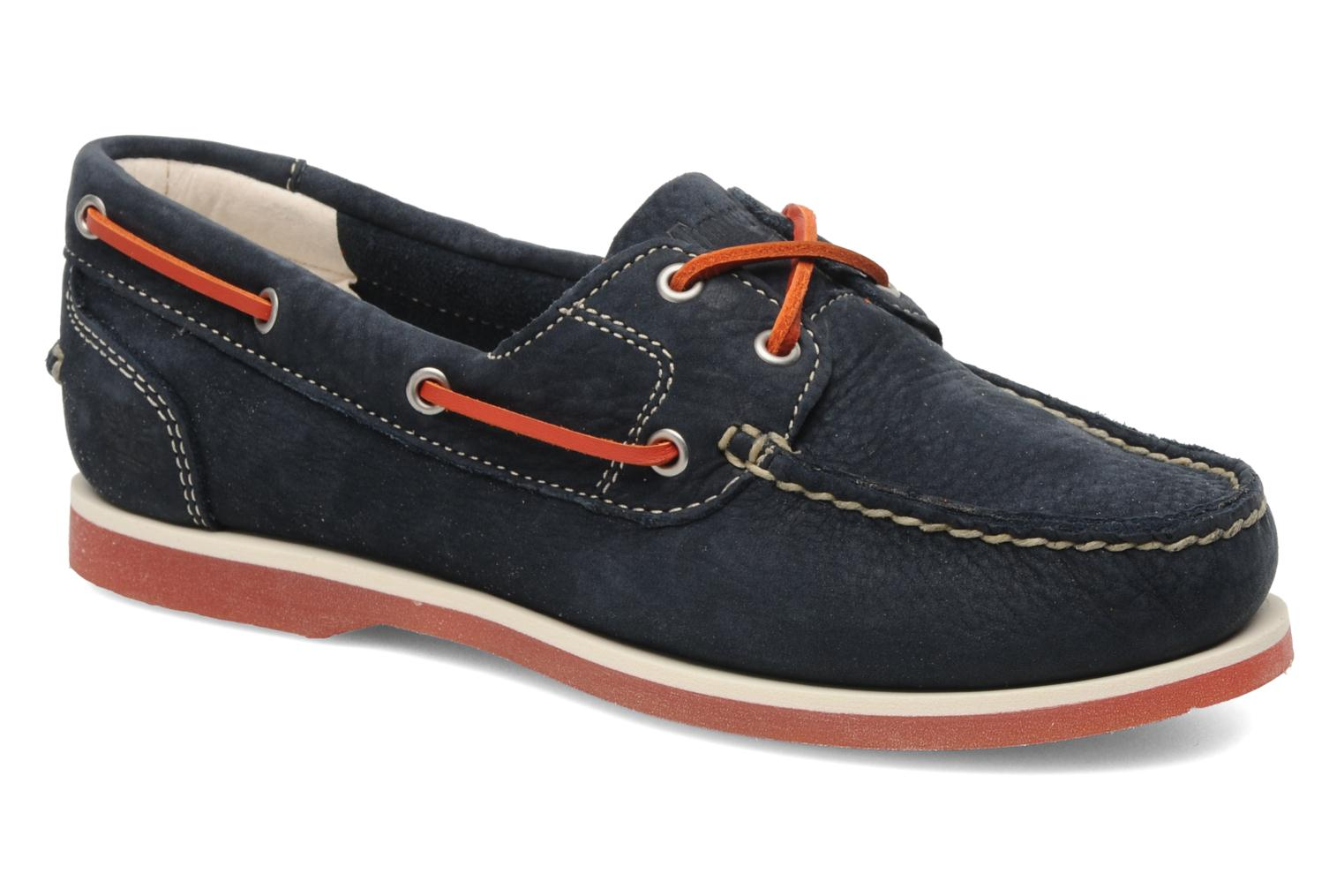 Lace-up shoes Timberland Classic Boat Unlined Boat Shoe Blue detailed view/  Pair view