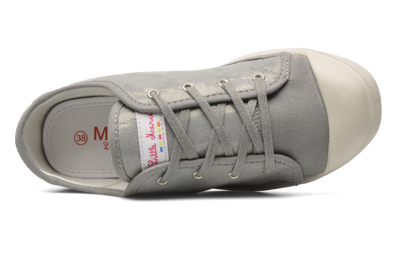Sneaker Little Marcel Samba Glit silber ansicht von links