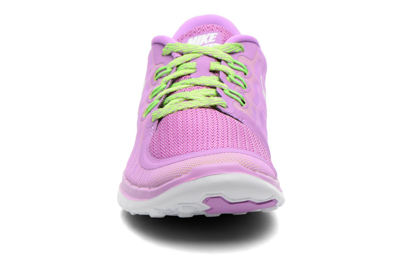 Baskets Nike NIKE FREE 5.0 (GS) Violet vue portées chaussures