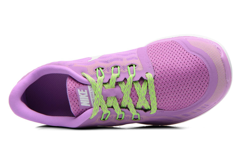 Baskets Nike NIKE FREE 5.0 (GS) Violet vue gauche