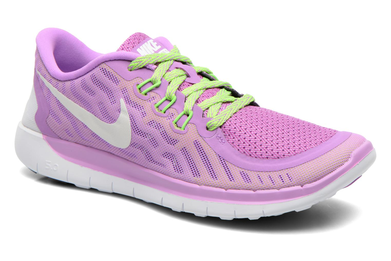 Baskets Nike NIKE FREE 5.0 (GS) Violet vue détail/paire