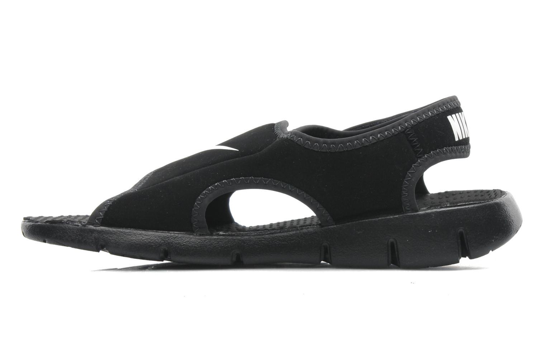 Sandali e scarpe aperte Nike SUNRAY ADJUST 4 (GSPS) Nero immagine frontale