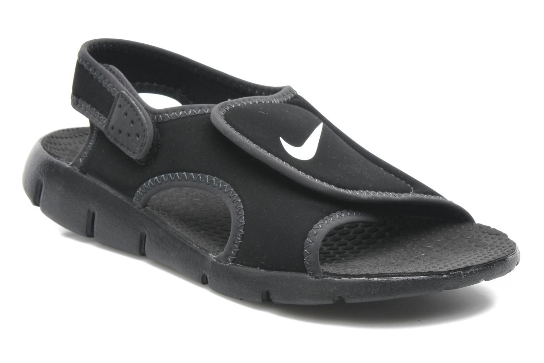 Sandalias Nike SUNRAY ADJUST 4 (GSPS) Negro vista de detalle / par