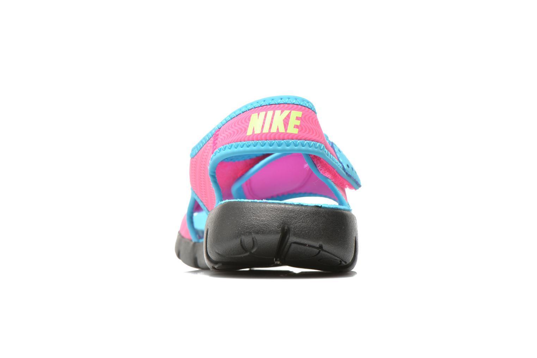 Sandales et nu-pieds Nike SUNRAY ADJUST 4 (GSPS) Rose vue droite