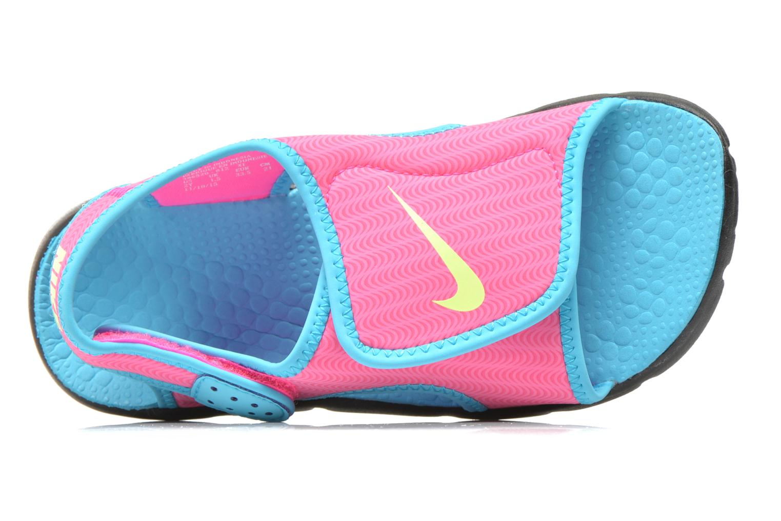Sandals Nike SUNRAY ADJUST 4 (GSPS) Pink view from the left