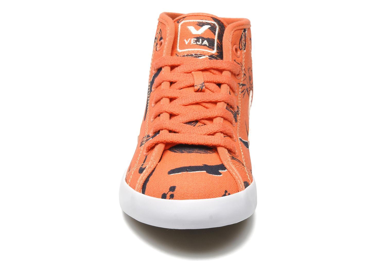 Baskets Veja Taua Mid Orange vue portées chaussures