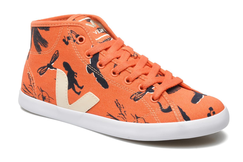 Baskets Veja Taua Mid Orange vue détail/paire