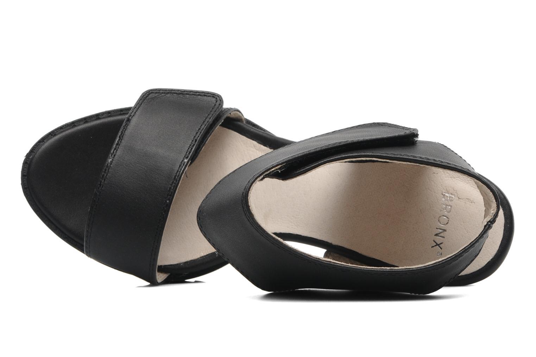 Sandales et nu-pieds Bronx Jen Noir vue gauche