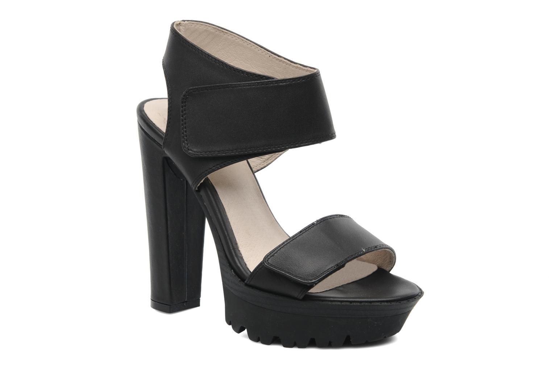 Sandales et nu-pieds Bronx Jen Noir vue détail/paire