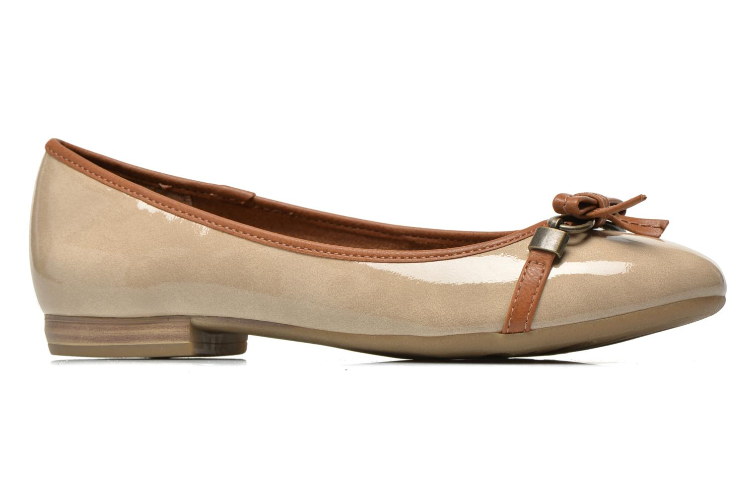 Ballet pumps Marco Tozzi Macha Beige back view