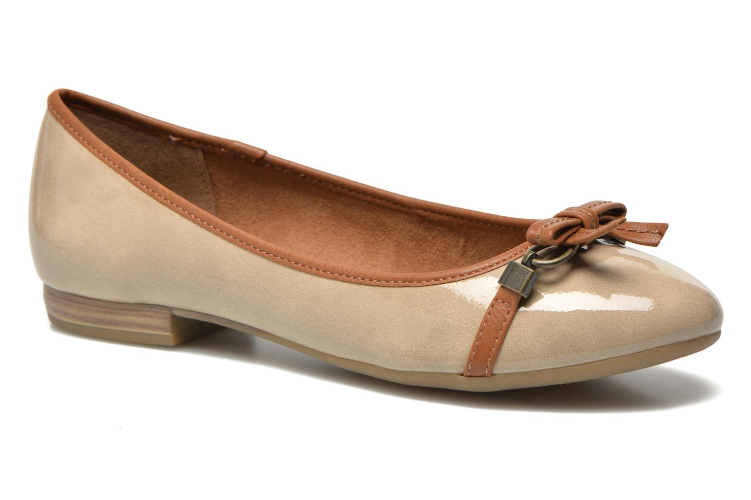Ballet pumps Marco Tozzi Macha Beige detailed view/ Pair view