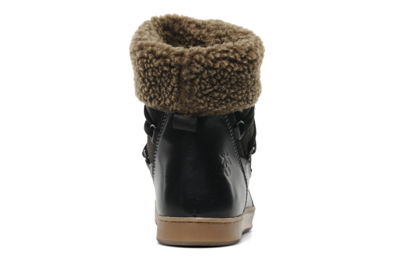 Bottines et boots Le temps des cerises Mountain Noir vue droite