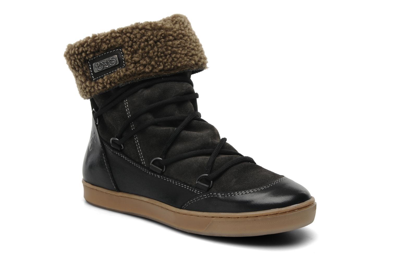 Bottines et boots Le temps des cerises Mountain Noir vue détail/paire