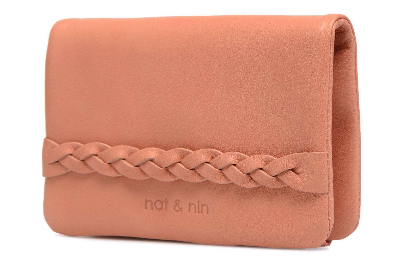 Kleine lederwaren Nat & Nin Lilou Roze model