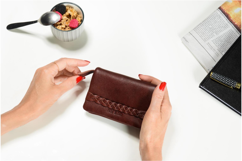 Portemonnaies & Clutches Nat & Nin Lilou rosa ansicht von oben