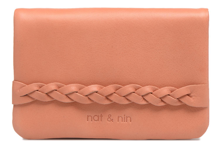 Kleine lederwaren Nat & Nin Lilou Roze detail