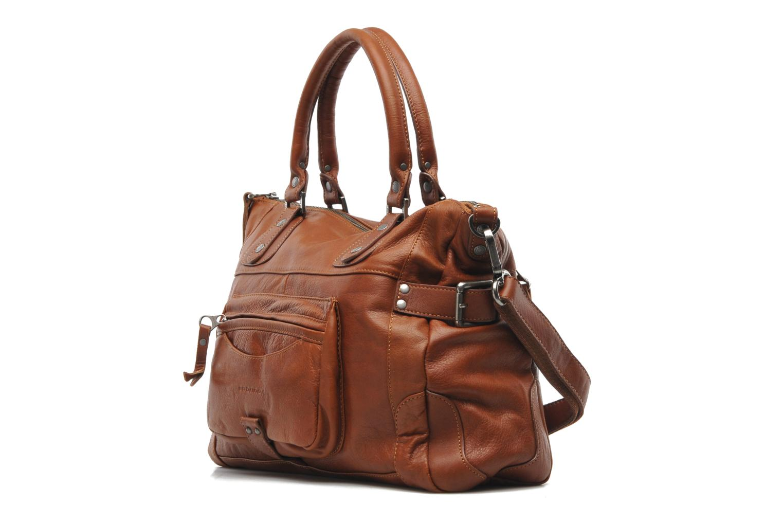 Handtaschen Sabrina Camille braun schuhe getragen