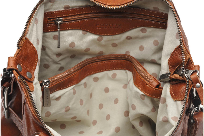 Handtassen Sabrina Camille Bruin achterkant