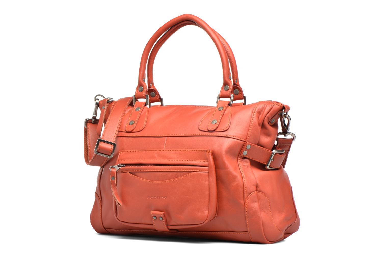 Handtaschen Sabrina Camille rot schuhe getragen