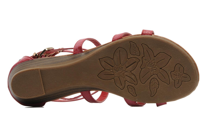 Sandales et nu-pieds Refresh Belle Rouge vue haut