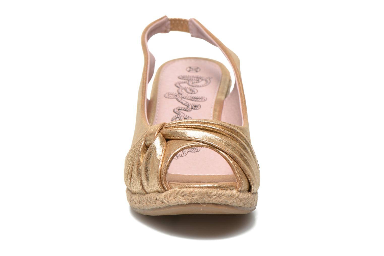 Sandales et nu-pieds Refresh Britt Or et bronze vue portées chaussures