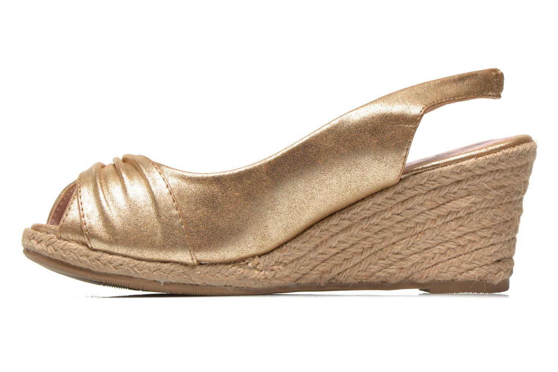 Sandales et nu-pieds Refresh Britt Or et bronze vue face
