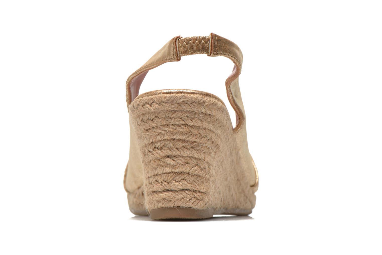 Sandales et nu-pieds Refresh Britt Or et bronze vue droite