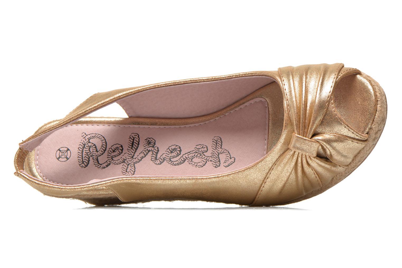 Sandales et nu-pieds Refresh Britt Or et bronze vue gauche
