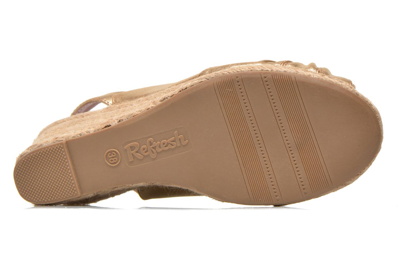 Sandales et nu-pieds Refresh Britt Or et bronze vue haut