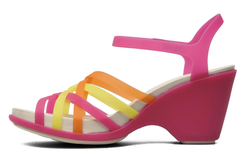 Sandales et nu-pieds Crocs Huarache Sandal Wedge Multicolore vue face