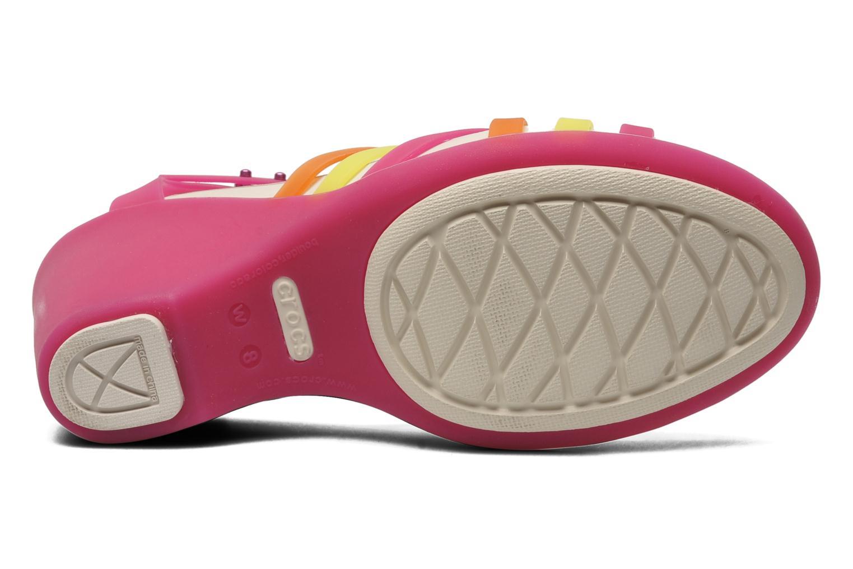 Sandales et nu-pieds Crocs Huarache Sandal Wedge Multicolore vue haut