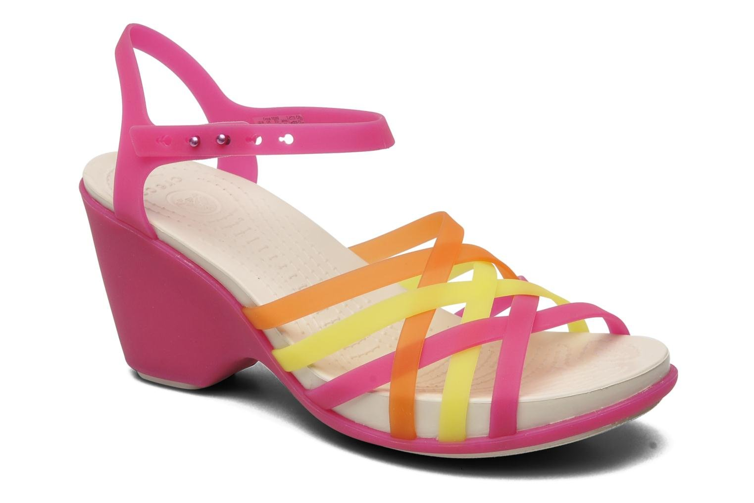 Huarache Sandal Wedge Fuchsia/Grapefruit