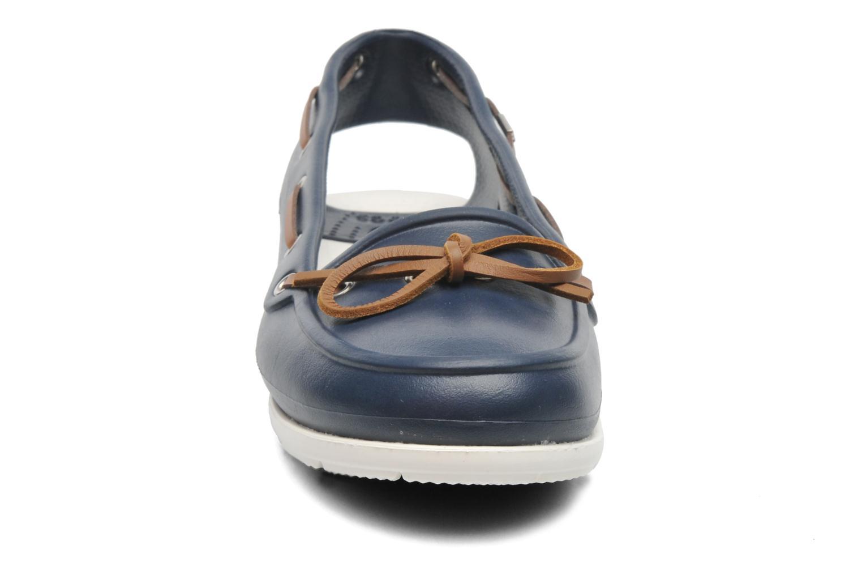 Veterschoenen Crocs Beach Line Boat Shoe Women Blauw model