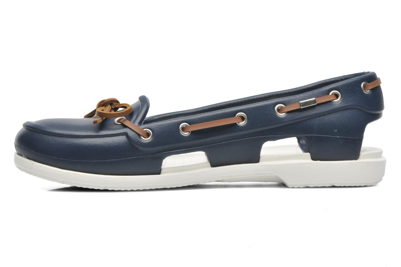 Veterschoenen Crocs Beach Line Boat Shoe Women Blauw voorkant