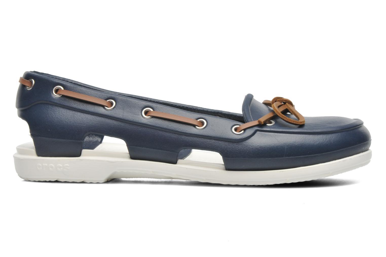 Veterschoenen Crocs Beach Line Boat Shoe Women Blauw achterkant