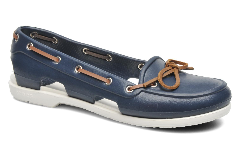 Veterschoenen Crocs Beach Line Boat Shoe Women Blauw detail