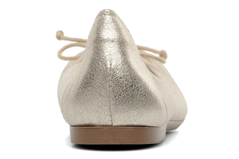 Ballerines Acebo's Camelia Or et bronze vue droite