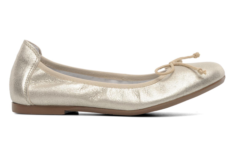 Bailarinas Acebo's Camelia Oro y bronce vistra trasera